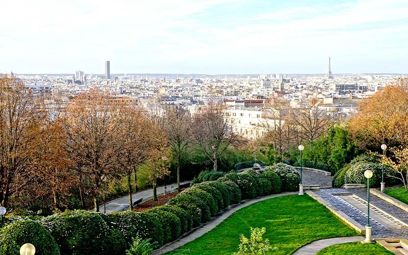 Point de vue sur Paris depuis le Parc de Belleville