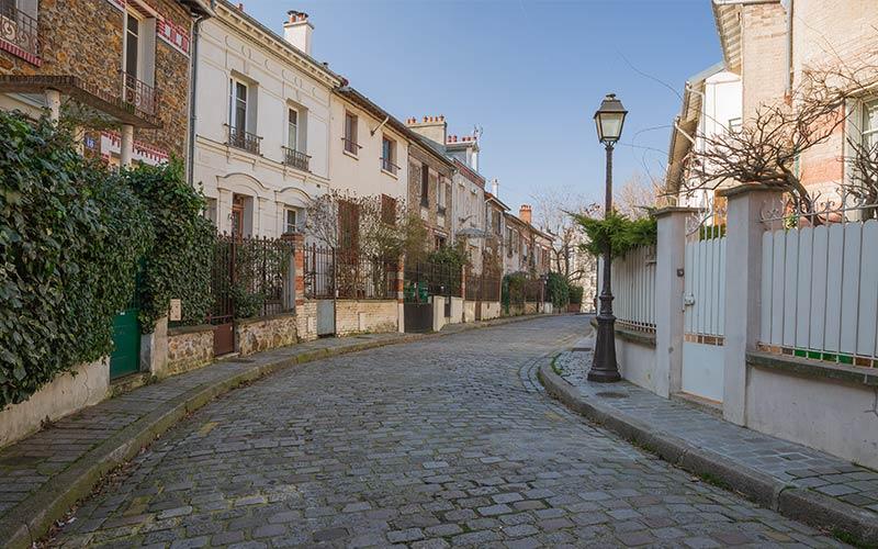 Quartier bucolique près de la Porte de Bagnolet