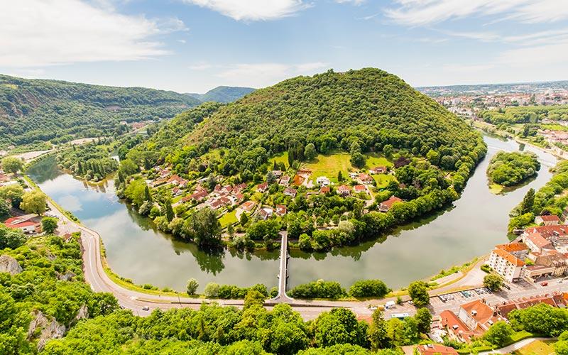 Le Doubs vu depuis la citadelle Vauban de Besançon