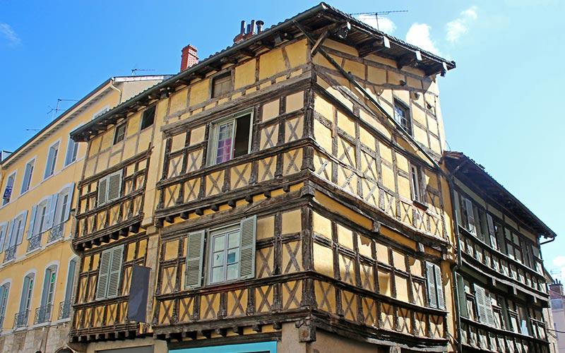 Maison dans la vieille ville de Bourg-en-Bresse