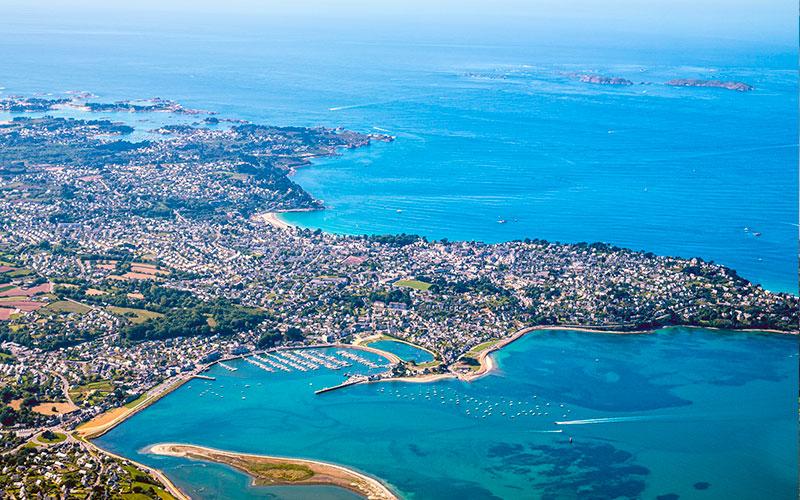 Vue aérienne du Finistère