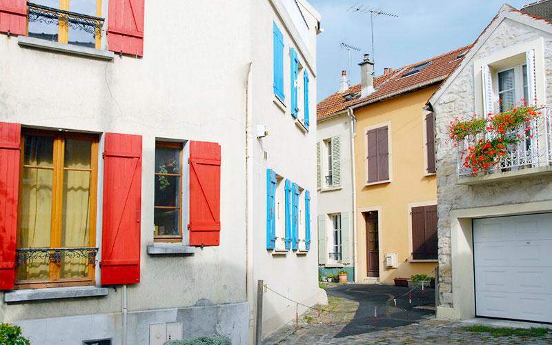 Ruelle colorée du centre ville de Champigny-sur-Marne