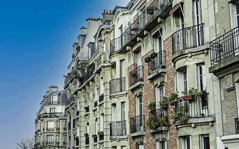Façades d'immeuble à Clichy