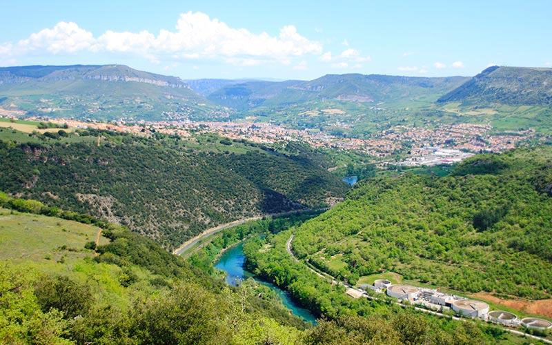 La vallée de Millau