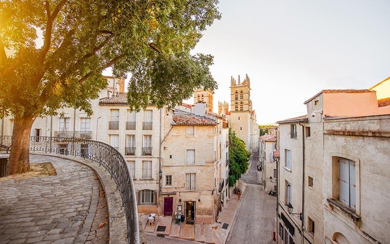 Vue sur la faculté de médecine de Montpellier