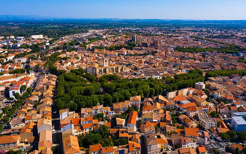 Vue aérienne de Narbonne