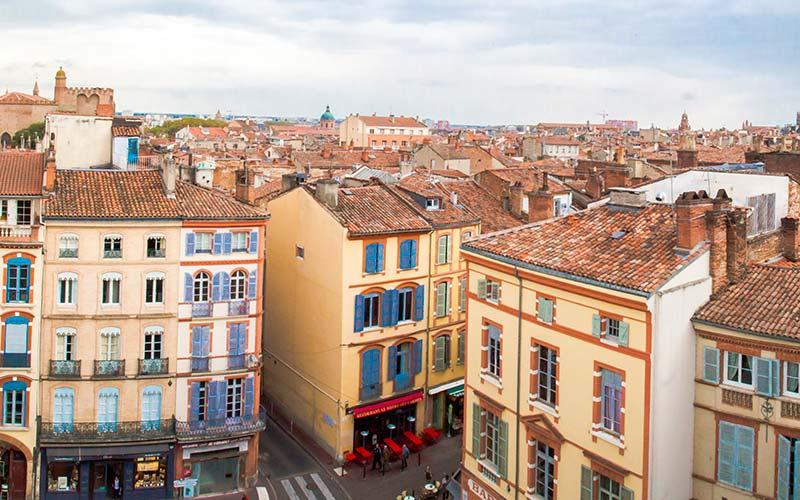 Vue panoramique de Toulouse depuis Les Carmes