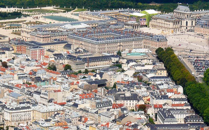 Vue du Ciel de Versailles