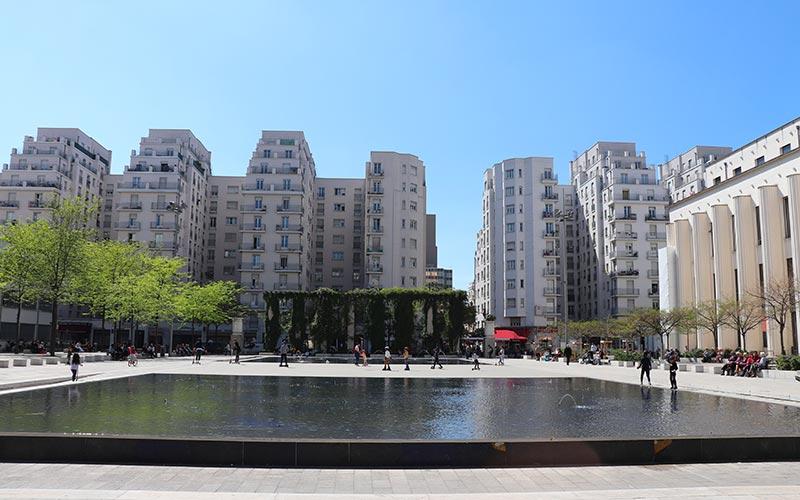 Place Lazare Goujon à Villeurbanne